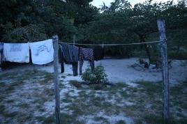 Pyykit kuivumassa.